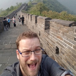 Nick on the Great Wall of China, Nick Wilson 2016
